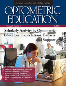 Optometric Education Volume 38 Number 1 Fall 2012