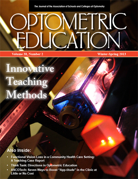 Optometric Education Volume 38 Number 2 Spring2013
