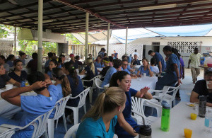 Students convened for a meal at the end of each day, which allowed the interprofessional sharing of cases and the exchange of other information.