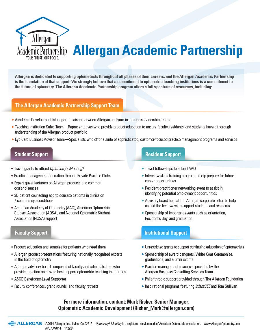 Allergan Academic Partnership The Journal Of Optometric Education