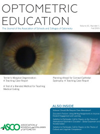 OptometricEducation_FA2015_cover