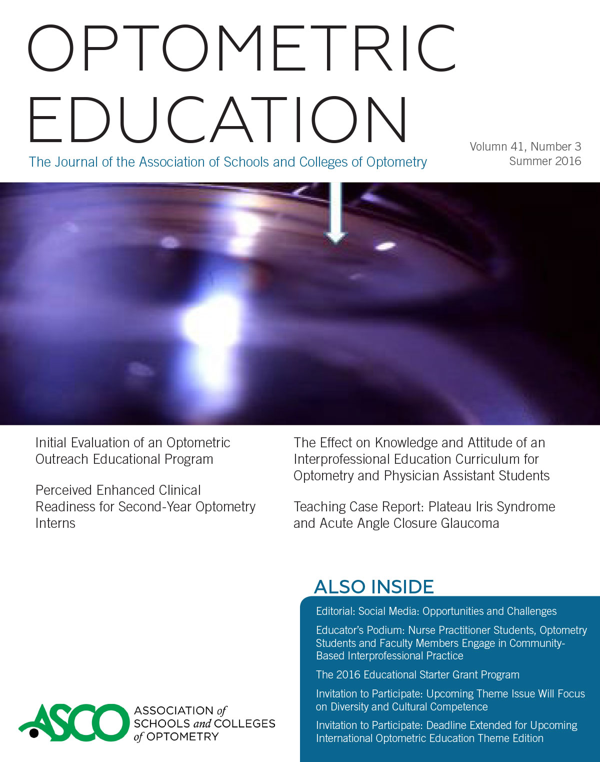 Optometric Education Volume 41 Number 3 | The Journal of Optometric