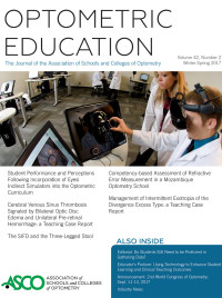 OptometricEducation_WS2017_cover